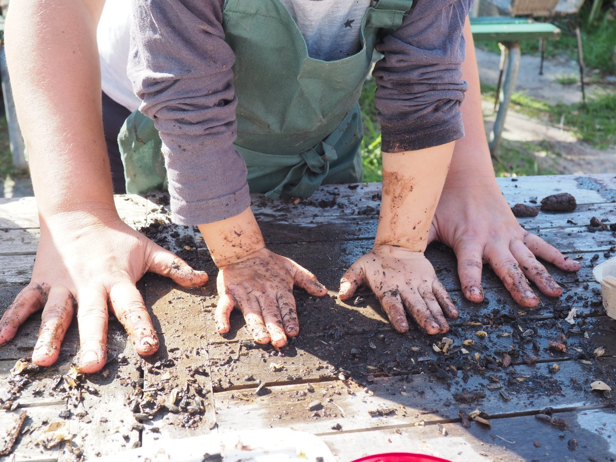 Seed Bomb making with kids