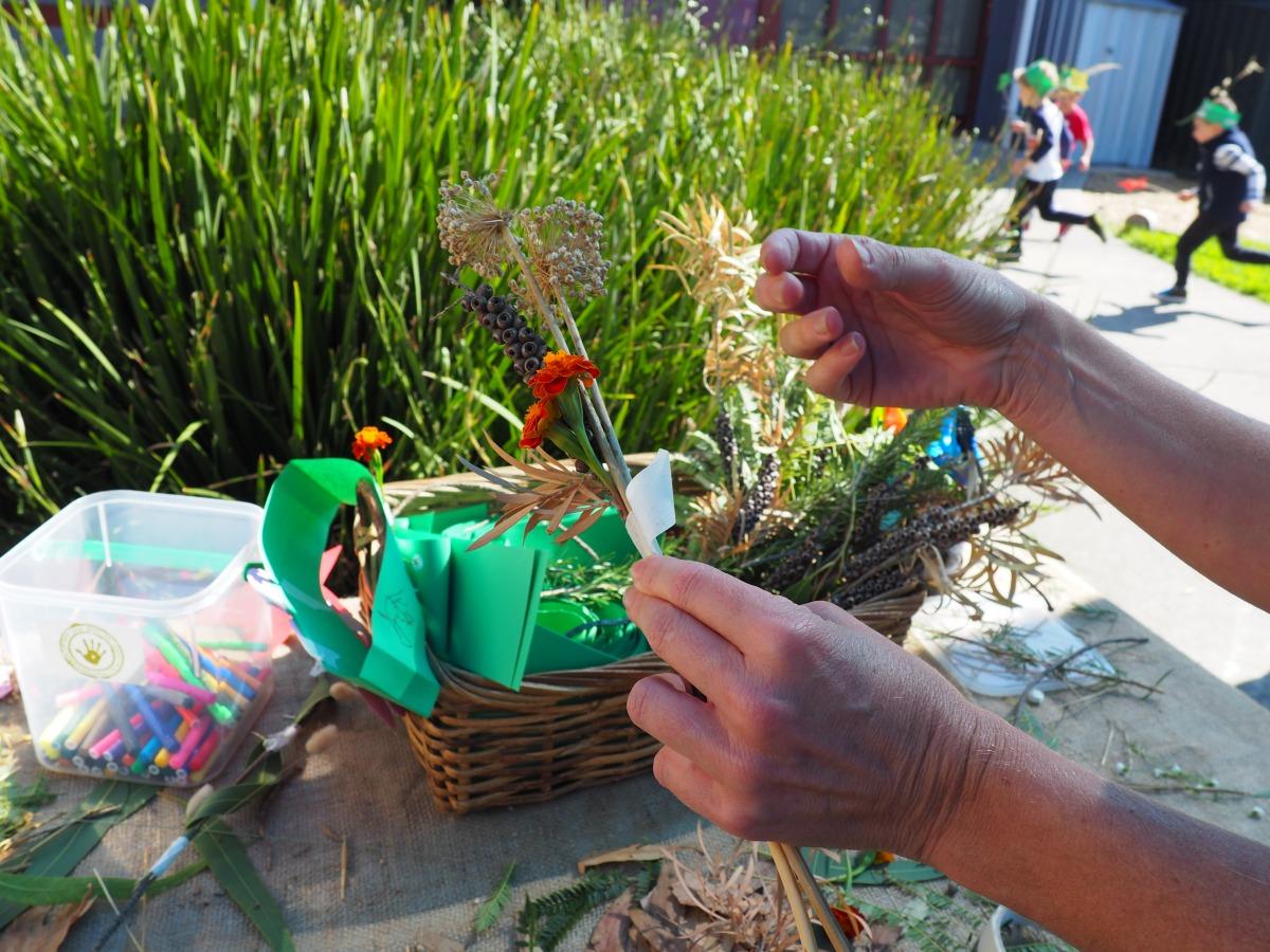 School holiday nature crafts