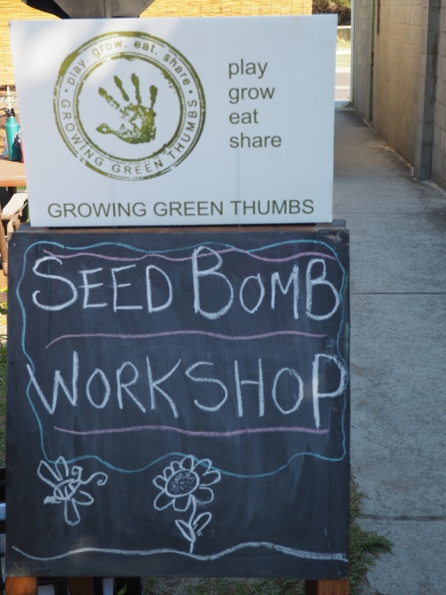 CARRUM BEACH LANE - sustainability festival family workshop seed bomb making