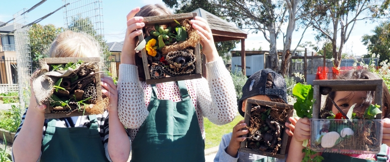 Growing Green Thumbs - bug hotels & nature detectives